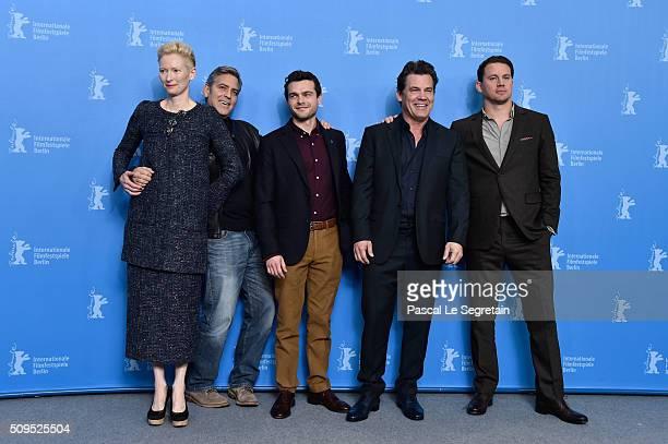Tilda Swinton George Clooney Alden Ehrenreich Josh Brolin and Channing Tatum attend the 'Hail Caesar' photo call during the 66th Berlinale...
