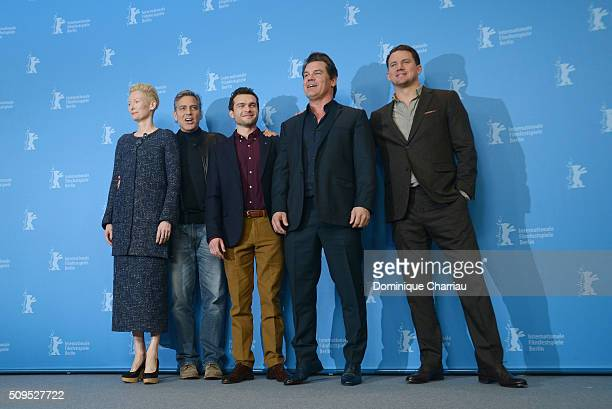 Tilda Swinton George Clooney Alden Ehrenreich Josh Brolin and Channing Tatum attend the 'Hail Caesar' photo call during the 66th Berlinale...