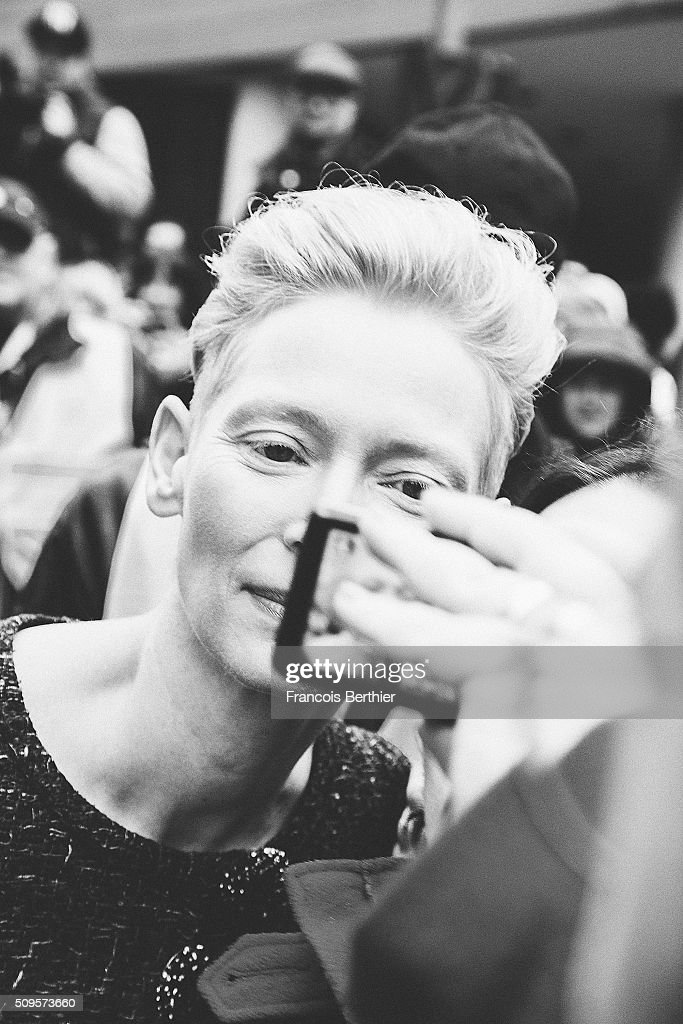<a gi-track='captionPersonalityLinkClicked' href=/galleries/search?phrase=Tilda+Swinton&family=editorial&specificpeople=202991 ng-click='$event.stopPropagation()'>Tilda Swinton</a> is seen with fans during the 66th Berlinale International Film Festival on February 11, 2016 in Berlin, Germany.