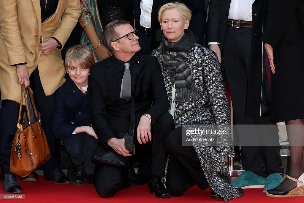 <a gi-track='captionPersonalityLinkClicked' href=/galleries/search?phrase=Tilda+Swinton&family=editorial&specificpeople=202991 ng-click='$event.stopPropagation()'>Tilda Swinton</a> (R), music producer Simon Fisher Turner attend the 'The Seasons in Quincy: Four Portraits of John Berger' screening during the 66th Berlinale International Film Festival Berlin at Haus Der Berliner Festspiele on February 13, 2016 in Berlin, Germany.