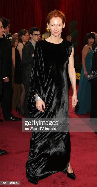 Tilda Swinton wearing Lanvin arrives for the 80th Academy Awards at the Kodak Theatre Los Angeles