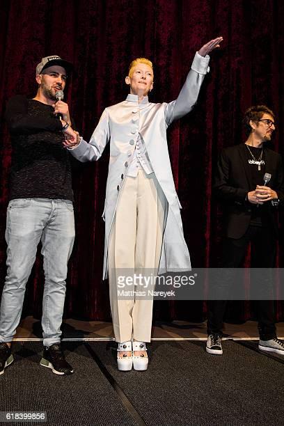 Tilda Swinton wearing Maison Margiela attends the 'Doctor Strange' fan event at Zoo Palast on October 26 2016 in Berlin Germany