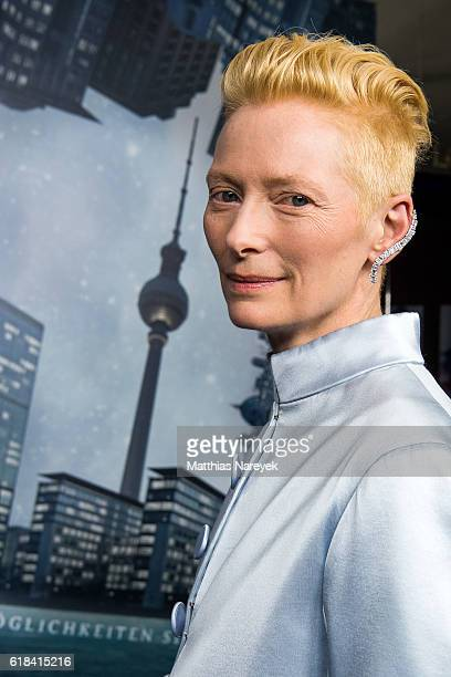 Tilda Swinton wearing Maison Margiela attends the 'Doctor Strange' fan event at Zoo Palast on October 26 2016 in Berlin Germany