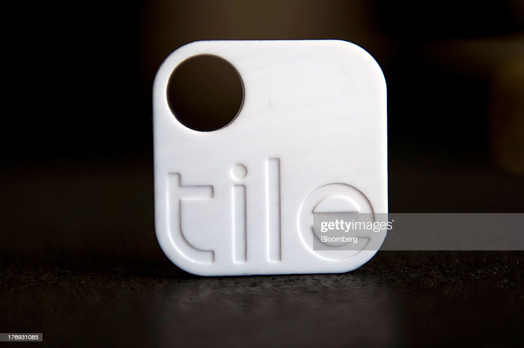A Tile Bluetooth device is seen on display after a Bloomberg West Television interview with Nick Evans, co-founder of Reveal Labs and chief executive officer of Tile, unseen, in San Francisco, California, U.S., on Friday, Aug. 16, 2013. Tiles are Bluetooth tags that help find lost items on which the device is attached. Photographer: David Paul Morris/Bloomberg via Getty Images