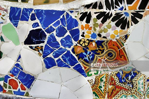 Tile by Gaudi Parc Guell Barcelona