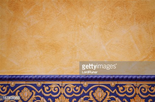 Tile decorated wall