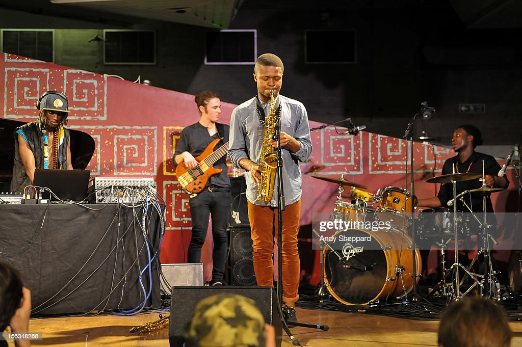 Tile Gichigi-Lipere, Jamie Benzies, David Turay and Chibike Odukwe of the band Psylus perform on stage during the London Jazz Festival 2012 on November 13, 2012 in London, United Kingdom.