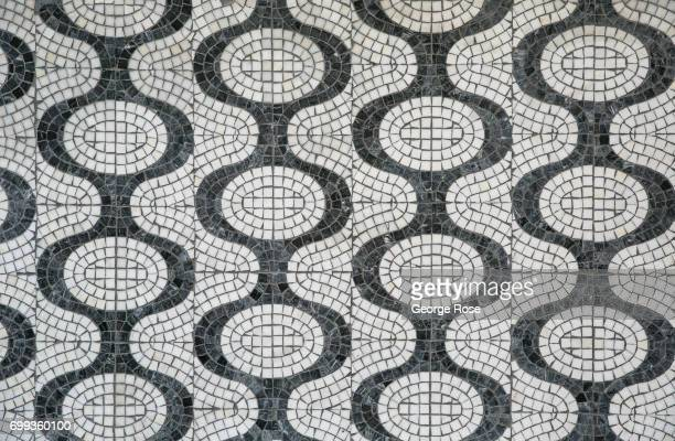 A tile mosaic outside Tao nightclub located on 16th Street and 9th Avenue in the Meatpacking District is viewed on June 9 2017 in New York City With...