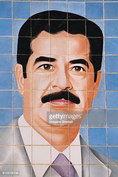 Tile Mural of Saddam Hussein