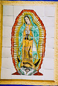 Tile picture of Our Lady of Guadalupe