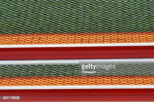 Tile roof background in Thailand : Stock Photo