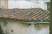 Tile roof in the old section of Gibraltar