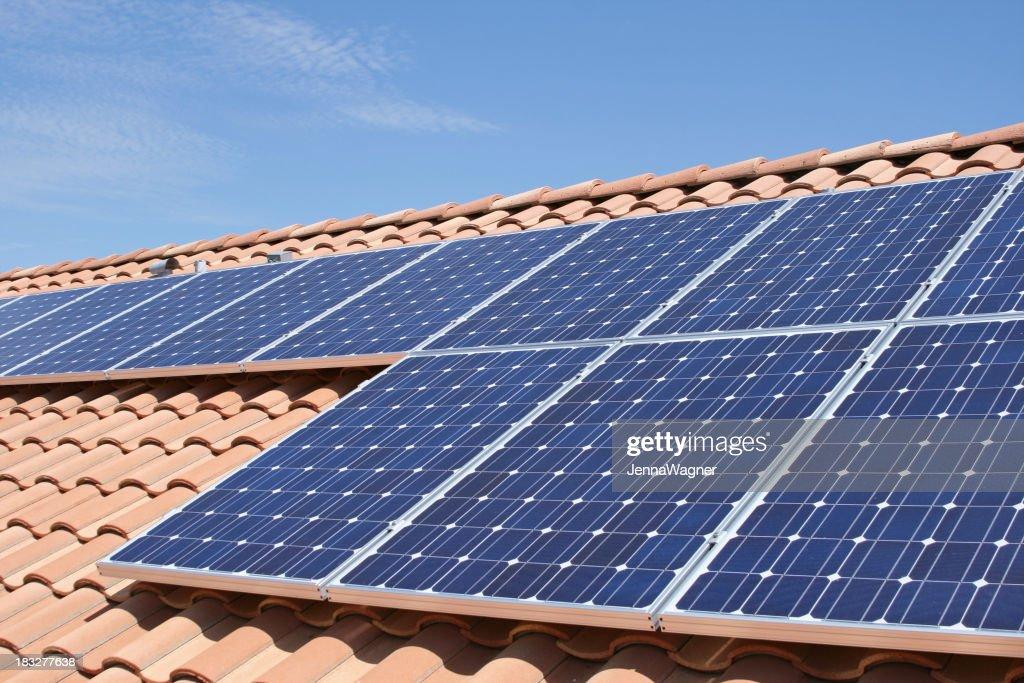 Tile Roof Solar : Stock Photo