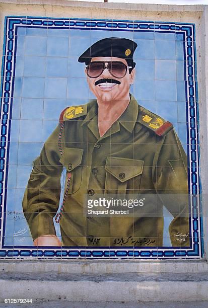 Tile Wall Mural of Saddam Hussein