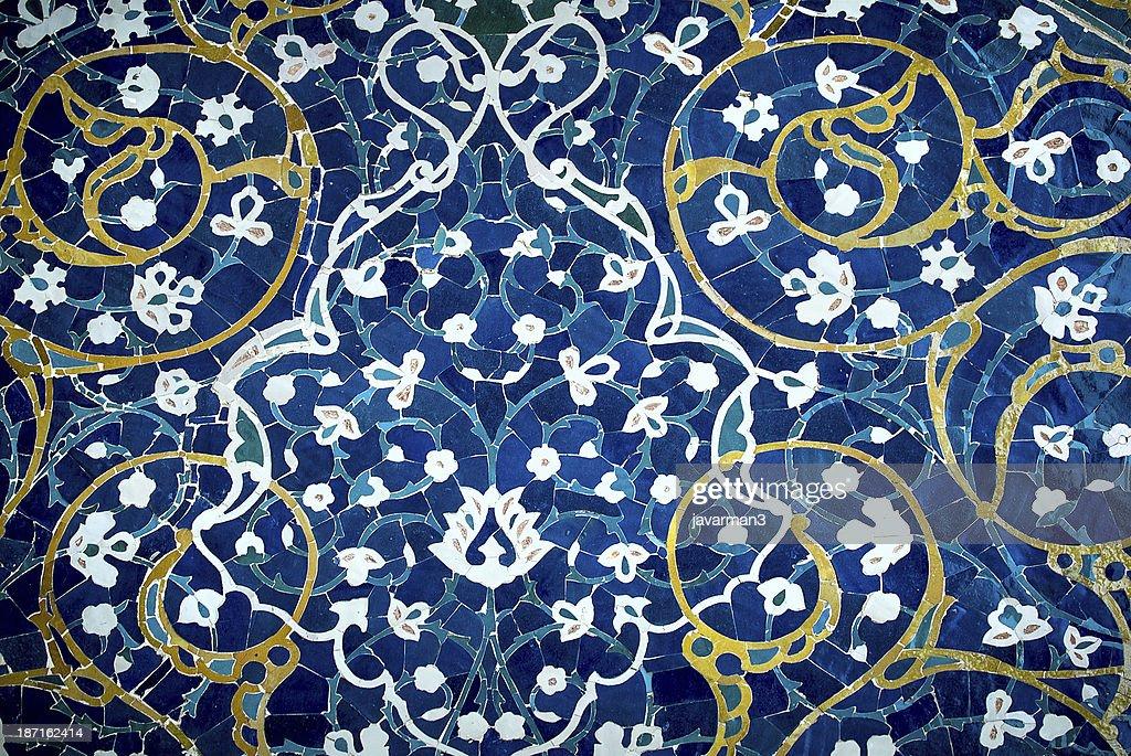Sfondo di piastrelle ornamenti orientali da isfahan iran moschea