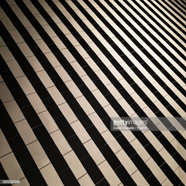 Tiled, Black And White Floor
