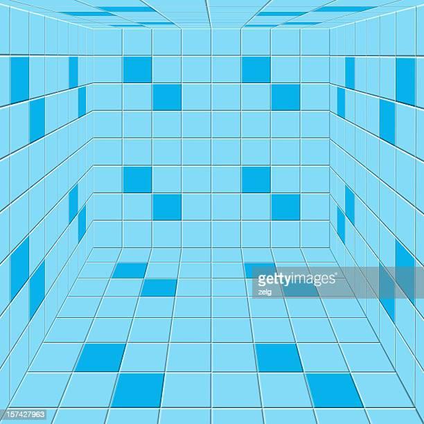 Camera con pavimento in piastrelle