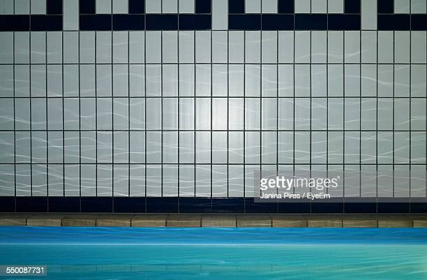 Tiled Wall By Swimming Pool
