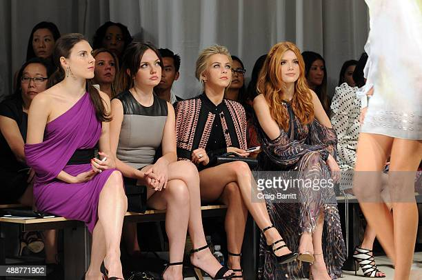 Tiler Peck Emily Meade Julianne Hough and Bella Thorne attend the J Mendel fashion show during Spring 2016 New York Fashion Week on September 17 2015...