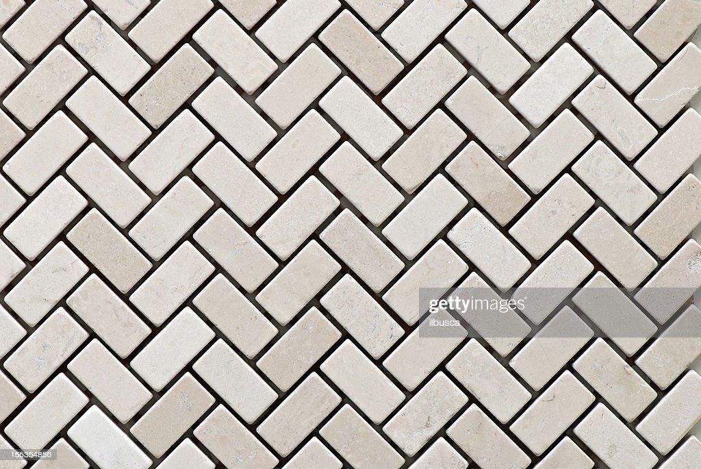 Tiles textures: white stone mosaic