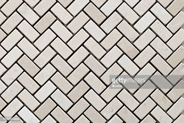 Fliesen Materialien: white stone mosaic