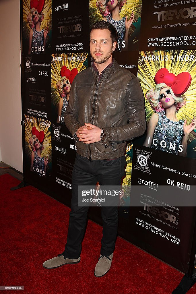 Tilky Jones arrives at Markus + Indrani Icons book launch party hosted by Carmen Electra benefiting The Trevor Project at Merry Karnowsky Gallery & Graffiti on January 10, 2013 in Los Angeles, California.