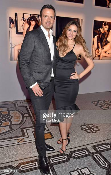 Till Broenner and Hana Nitsche attend the exhibition opening 'Sound of Passion' at Hotel De Rome on November 30 2017 in Berlin Germany
