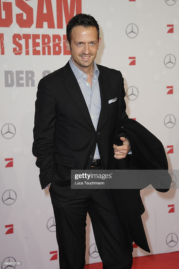 Till Broenner attends the premiere of 'Die Hard - Ein Guter Tag Zum Sterben' at Sony Center on February 4, 2013 in Berlin, Germany.