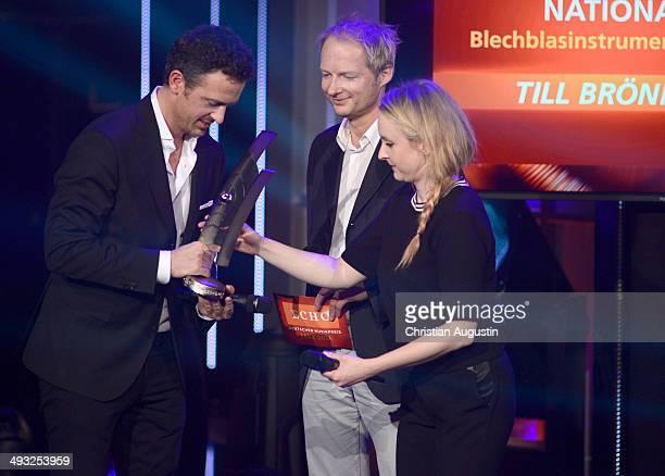 Till Broenner Michel van Dyke and Leslie Clio attends Echo Jazz Award 2014 ceremony at Kampnagel on May 22 2014 in Hamburg Germany
