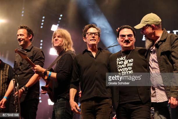 Till Broenner Mike Stern Mark Hart Bobby Kimball Chris Thompson perform at the Man Doki Soulmates concert during the Sziget Festival at Budapest Park...