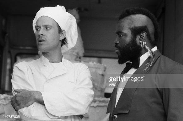 TEAM 'Till Death Do Us Part' Episode 11 Pictured Dwight Schultz as 'Howling Mad' Murdock Mr T as BA Baracus Photo by NBCU Photo Bank