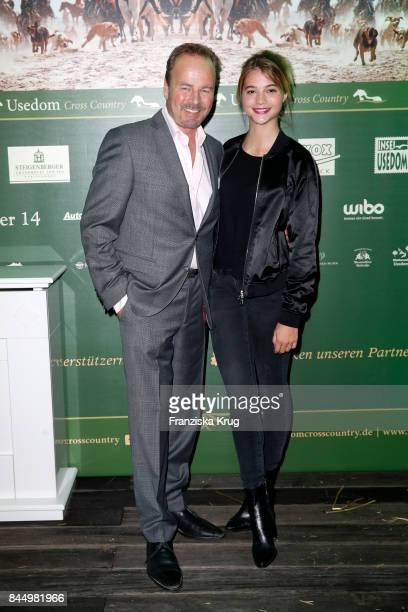 Till Demtroeder and LisaMarie Koroll attend the Till Demtroeders CharityEvent 'Usedom Cross Country' on September 9 2017 at Steigenberger Hotel near...
