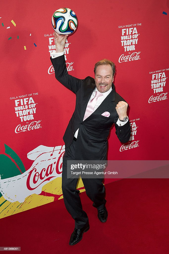 Till Demtroeder attends the Gala Night of the FIFA World Cup Trophy Tour on March 29, 2014 in Berlin, Germany.