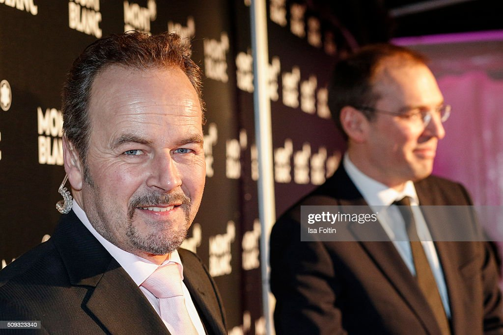 Till Demtroeder attends the Montblanc House Opening on February 09, 2016 in Hamburg, Germany.