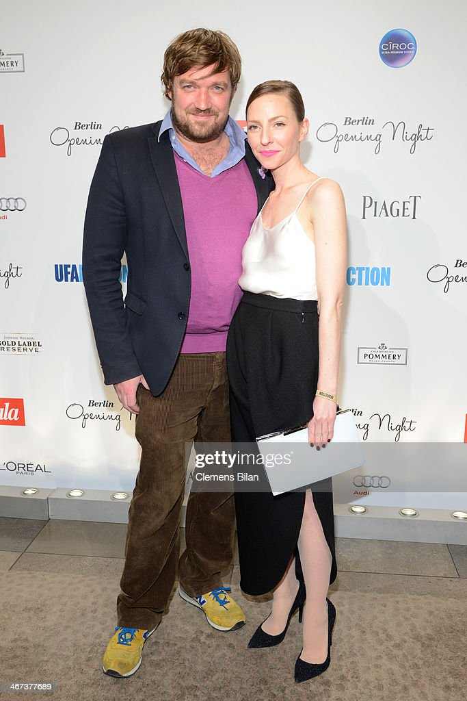 Till Franzen and Katharina Schuettler attend the Berlin Opening Night Of Gala & Ufa Fiction during the 64th Berlinale International Film Festival at Hotel Das Stue on February 6, 2014 in Berlin, Germany.