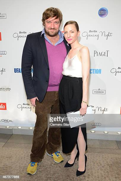 Till Franzen and Katharina Schuettler attend the Berlin Opening Night Of Gala Ufa Fiction during the 64th Berlinale International Film Festival at...