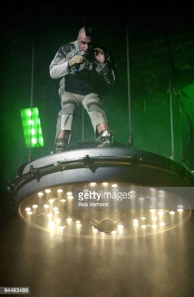 Till Lindemann from Rammstein performs live at Heineken Music Hall in Amsterdam Netherlands on December 03 2001