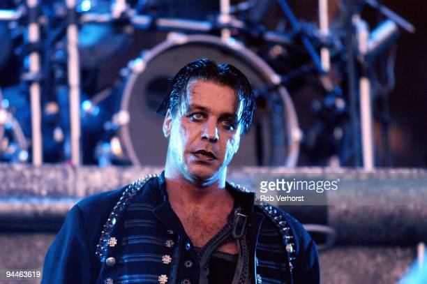 Till Lindemann from Rammstein performs live on stage at The Fields of Rock Festival at Nijmegen Holland on June 18 2005