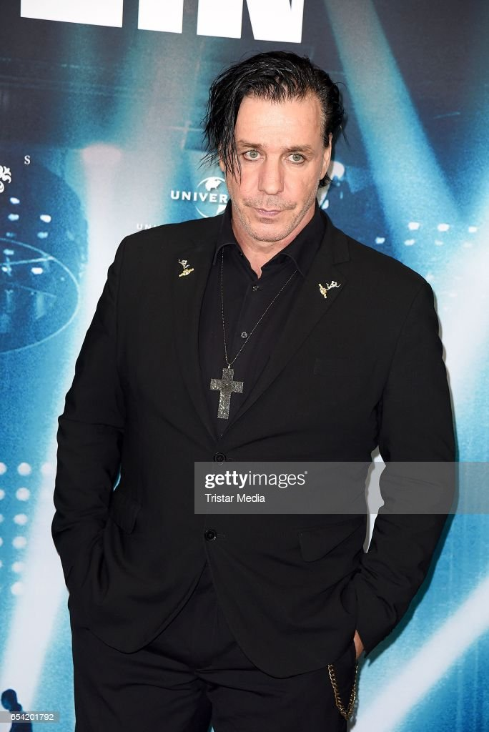BERLIN, GERMANY - MARCH 16: Till Lindemann of the band Rammstein attends the world...