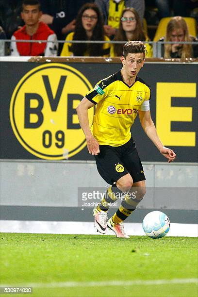 Till Schumacher of Dortmund during the German U19 Championship Semi Final First Leg match between Borussia Dortmund and 1860 Muenchen at Signal Iduna...
