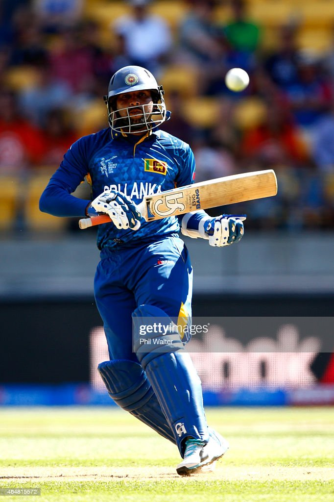 <a gi-track='captionPersonalityLinkClicked' href=/galleries/search?phrase=Tillakaratne+Dilshan&family=editorial&specificpeople=239186 ng-click='$event.stopPropagation()'>Tillakaratne Dilshan</a> of Sri Lanka bats during the 2015 ICC Cricket World Cup match between England and Sri Lanka at Wellington Regional Stadium on March 1, 2015 in Wellington, New Zealand.