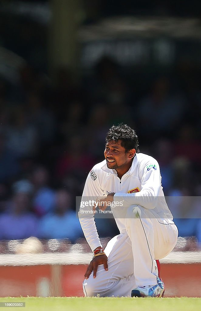 Tillakaratne Dilshan of Sri Lanka looks dejected during day four of the Third Test match between Australia and Sri Lanka at the Sydney Cricket Ground on January 6, 2013 in Sydney, Australia.