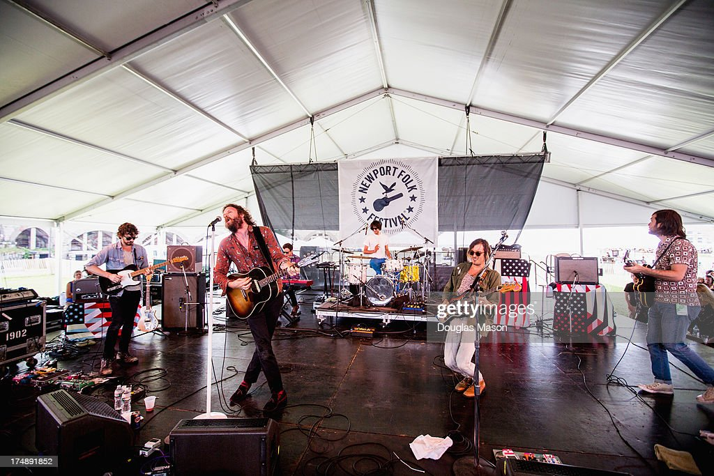 J. Tillman 'Father Misty' performs during the 2013 Newport Folk Festival at Fort Adams State Park on July 27, 2013 in Newport, Rhode Island.