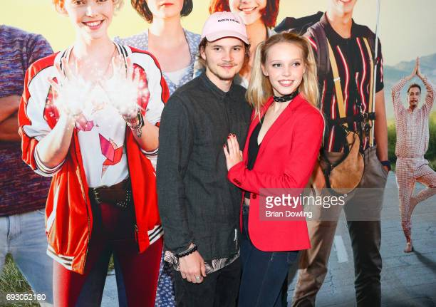 Tilman Poerzgen and Lina Larissa Strahl attend the Bibi and Tina photo call and award reception at Atelier on June 6 2017 in Berlin Germany