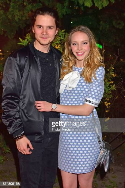Tilman Poerzgen and Lina Larissa Strahl attend the New Faces Award Film at Haus Ungarn on April 27 2017 in Berlin Germany