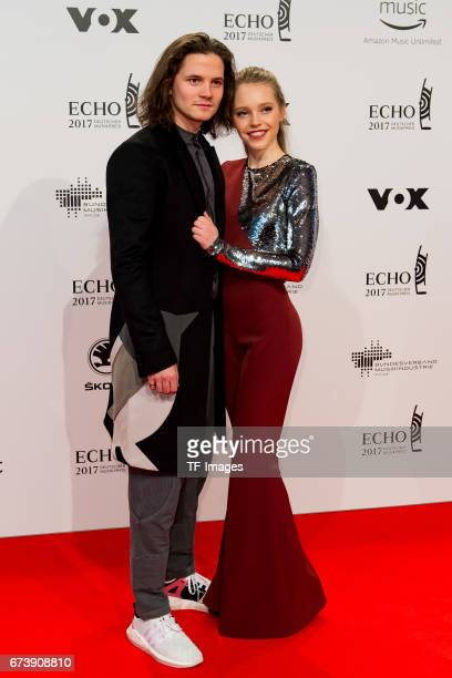 Tilman Poerzgen and Lina Larissa Strahl on the red carpet during the ECHO German Music Award in Berlin Germany on April 06 2017