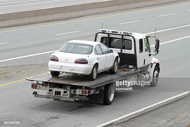 Schrägansicht Bett Tow Truck