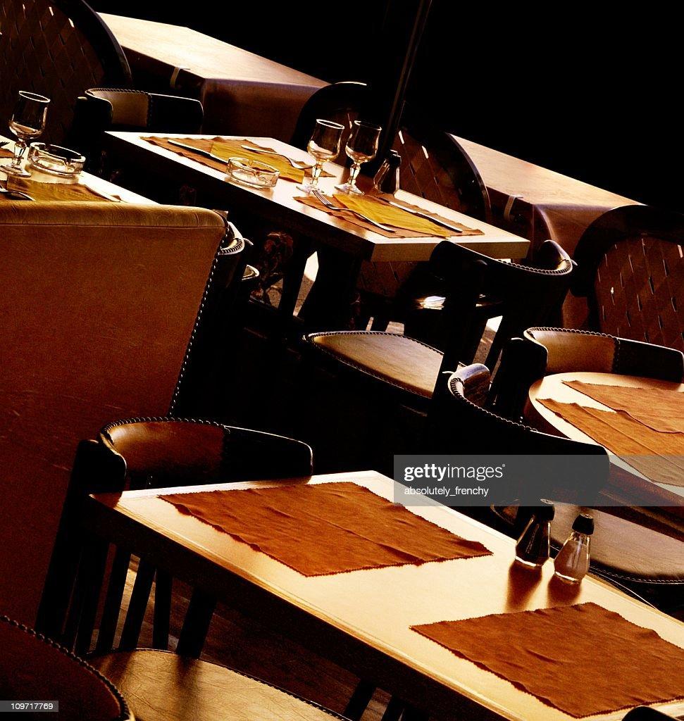 Tilt Shot of Restaurant Table Settings : Stock Photo