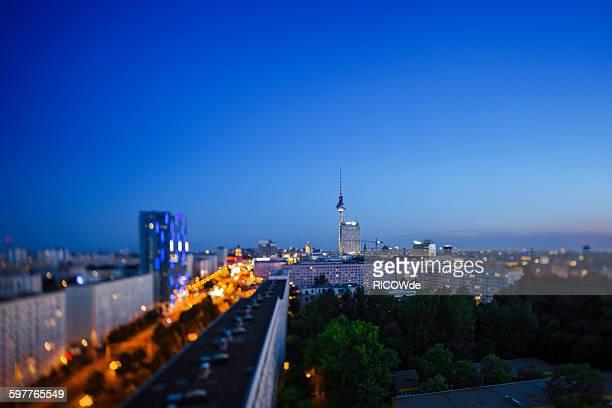 Tilted Berlin skyline