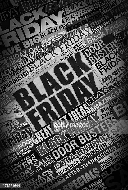 tilted black friday newspaper collage